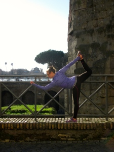 Dancer Pose in the ruins