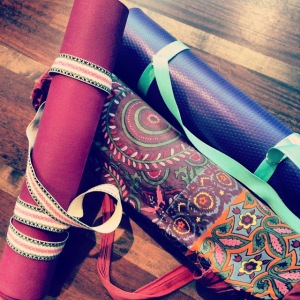 Our yoga mats waiting to board, they became great friends.